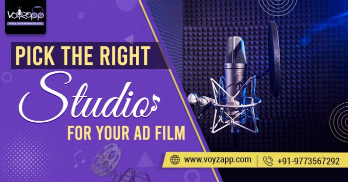 Right Studio For Audio Shoot