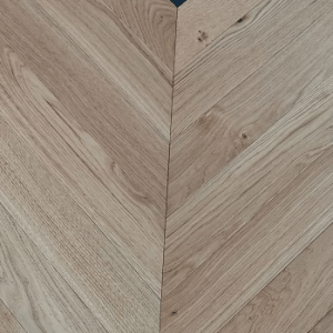 What is chevron wood flooring?