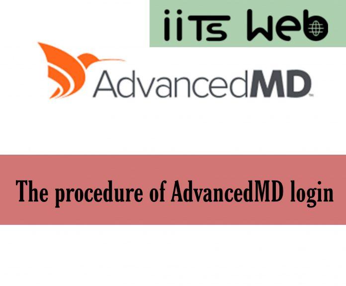 The procedure of AdvancedMD login